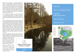 Přehled projektu revitalizace rybníka Labuť