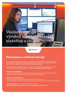 Veolia Energie v ČR: výrobce a dodavatel tepla, elektřiny a chladu