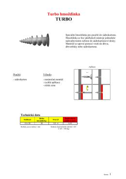 HS turbo informace k použití