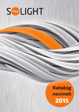 Katalog novinek 2015 - SOLIGHT E-shop