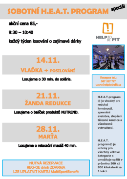 H.E.A.T.program ® je vhodný pro redukci hmotnosti