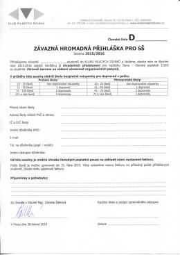 41 ^p^^^. ZAVAZNA HROMADNA PRIHLASKA PRO SS