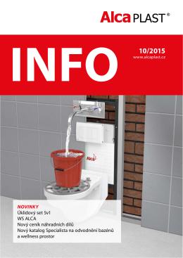 INFO 10/2015 - Alca plast, sro