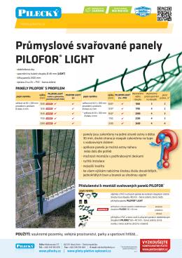 Průmyslové svařované panely PILOFOR® LIGHT