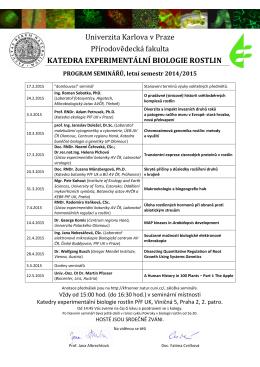 Program seminářů ke stažení