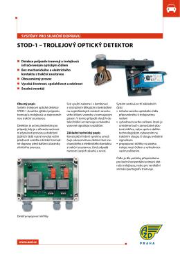 STOD-1 – TROLejOVý OPTIcký DeTekTOR