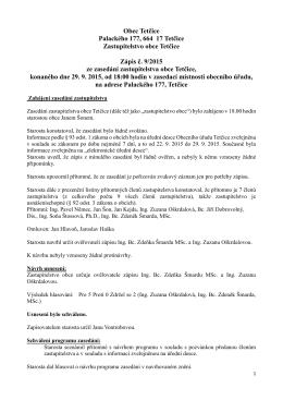 zápis ze zasedání 29.9.2015