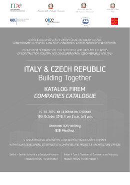 ITALY & CZECH REPUBLIC Building Together