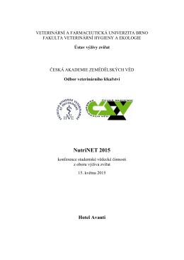 Program konference - NutriNET - Fakulta veterinární hygieny a