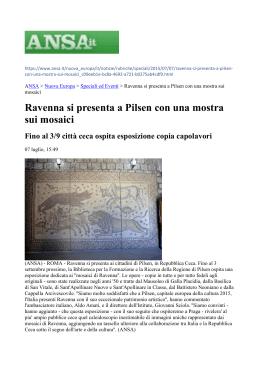 """""""Accademia di Brera e trasferta a Pilsen per """"i mosaici di Ravenna"""""""