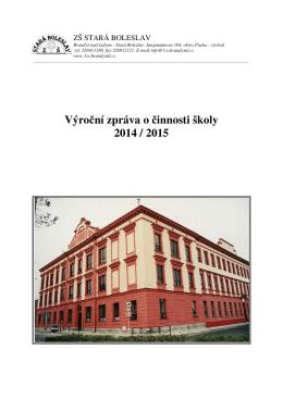 Výroční zpráva 2014/2015 - Základní škola Stará Boleslav