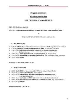 Program Jarní konference