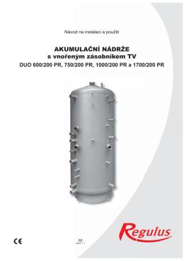 Akumulacni nadrze DUO 600-200 PR, 750-200 PR a