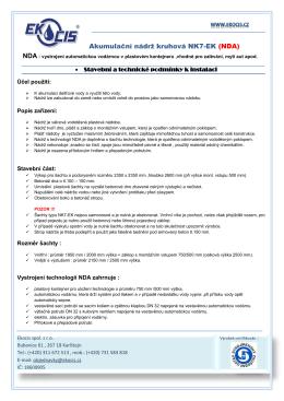 Akumulační nádrž kruhová NK7-EK (NDA) - cistirny