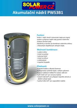Akumulační nádrž PWS3B1