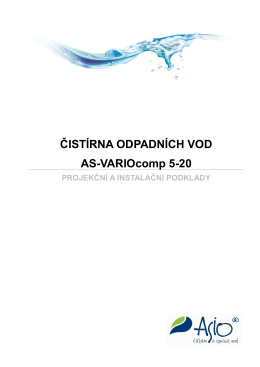 ČISTÍRNA ODPADNÍCH VOD AS-VARIOcomp 5-20