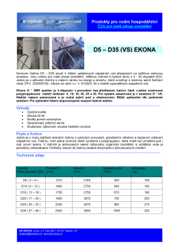 více informací o čistírnách řady D EKONA - dn