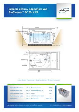 Schéma čistírny odpadních vod BioCleaner® BC 20 K PP - ENVI-PUR