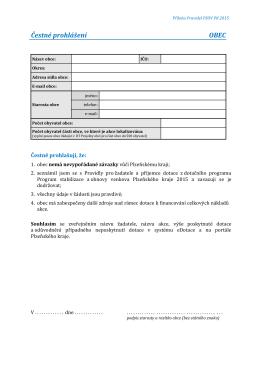 Čestné prohlášení_obec_verze pdf k RUČNÍMU VYPLNĚNÍ