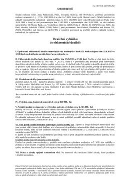 Dražební vyhláška č.j. 067 EX 3437/09-202