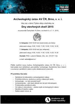 program () - Archeologický ústav AV ČR, Brno, v. v. i.