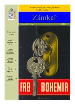 Zámkař č. 3/2015 - Asociace Gremium Alarm