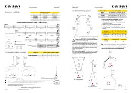Závěsný lankový systém Sestavení - základní Počet závěsů, sklon