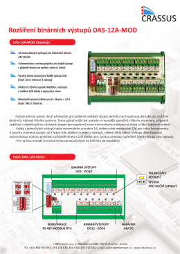 Rozšíření binárních výstupu DAS-12A-MOD