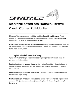 Montážní návod pro Rohovou hrazdu Czech Corner