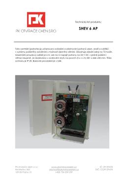 SHEV 6 AP - PK otvírače oken s.r.o.