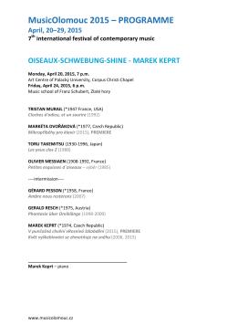 MusicOlomouc 2015 PROGRAMME detailed (eng)