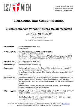 3. Internationale Wiener Masters