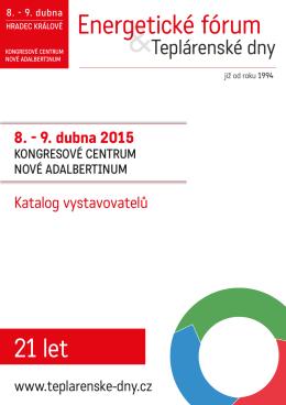 Katalog akce 2015 - Energetické fórum a Teplárenské dny 2016