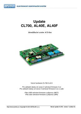 Update CL700, AL40E, AL40F