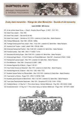Klänge der alten Monarchie – Sounds of old monarchy