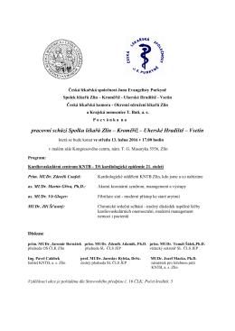Pozvánka na pracovní schůzi - Krajská nemocnice T. Bati, as