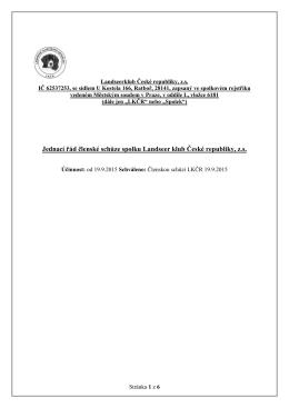 Jednací řád členské schůze spolku Landseer klub České republiky