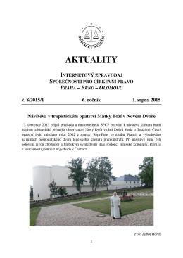 Aktuality č. 8/2015/1 - Společnost pro církevní právo