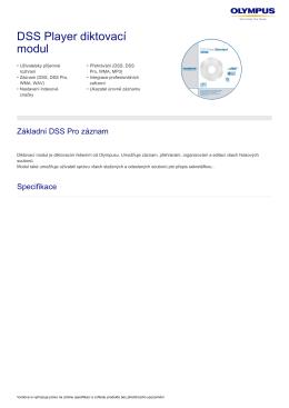 DSS Player diktovací modul