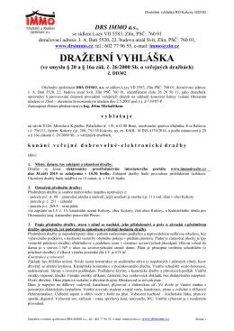 Dražební vyhláška DD302