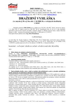 Dražební vyhláška - Mgr. Bc. David Vandrovec