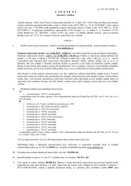 dražební vyhláška - JUDr. Josef ČERNÝ, soudní exekutor