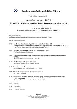 Inovační potenciál ČR,