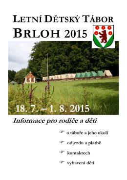 BRLOH 2015 - Letní dětský tábor Brloh