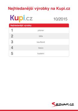 Nejhledanější výrobky na Kupi.cz 1 2 3 4 5 10/2015