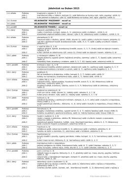 jídelníček na duben 2015 v PDF