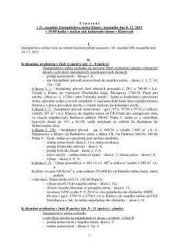 Návrh na usnesení