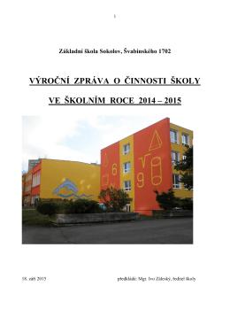 2014/2015 - Základní škola Sokolov, Švabinského 1702