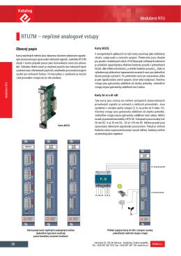 RTU7M – nepřímé analogové vstupy