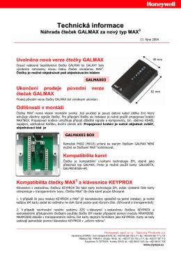 Technická informace - ADI Global Distribution